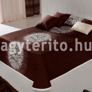 Ágnes ágytakaró barna-fehér színben