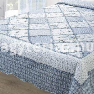 Eva kék ágytakaró