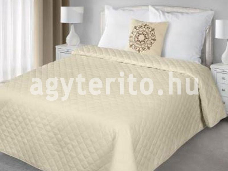 EVELYN ágytakaró - egyszínű bézs steppelt mintás - Ágytakaró és ... 6d5c1f97de