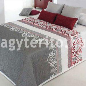 IRVIN szürke csíkos ágytakaró