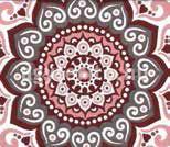 Misouri ágytakaró piros minta