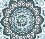 Misouri ágytakaró kék minta