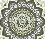 Misouri ágytakaró zöld minta