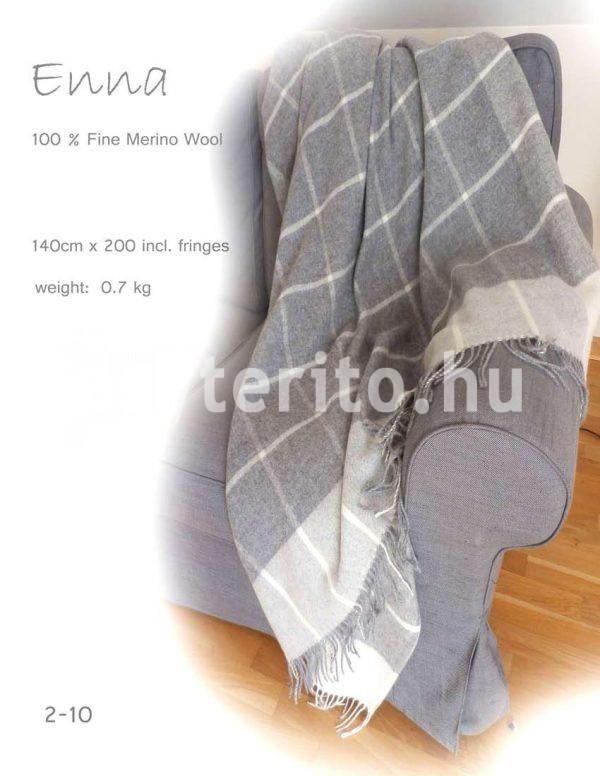Enna Gyapjú takaró szürke merinói gyapjú - c2-10