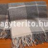 ENNA merinói gyapjú pléd takaró szürke - guriga-két rojtos