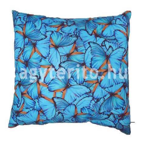 Kék pillangós díszpárna