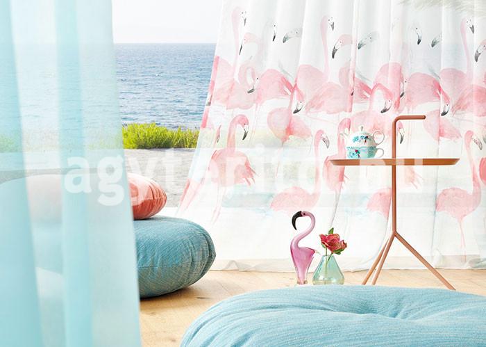 flamingós fényáteresztő függöny
