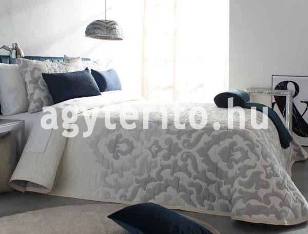 Palermo ágytakaró szürek C08 fehér-szürke egyoldalas ágyterítő