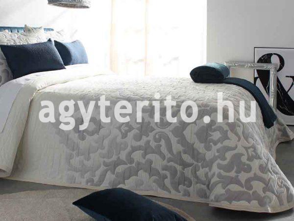 Palermo ágytakaró szürek C08 fehér-szürke egyoldalas ágyterítő zoom