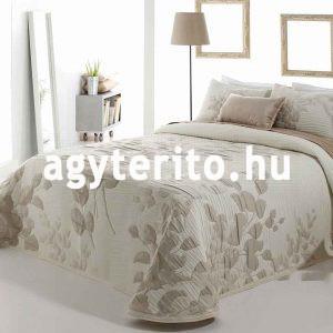 lesly ágytakaró bézs c01 levél mintás