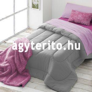 Ágytakaró pléd készlet rózsaszín enteriőrben