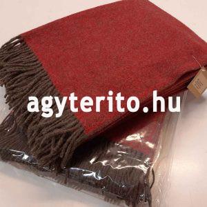 MINO merinói gyapjú pléd takaró bordó csomagolással egymáson