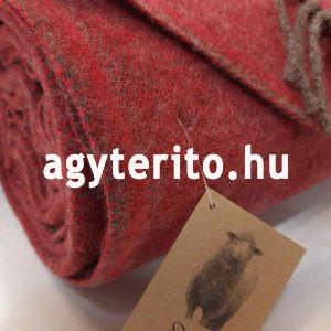 MINO merinói gyapjú pléd takaró bordó - címkével