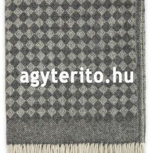 SAGA merinói gyapjú pléd takaró szürke függőleges