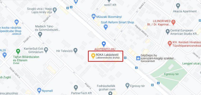 Üzletünkről, ágytakaró webáruház. térképen.