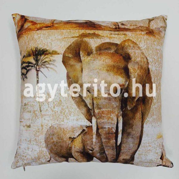 Szafari elefánt díszpárna